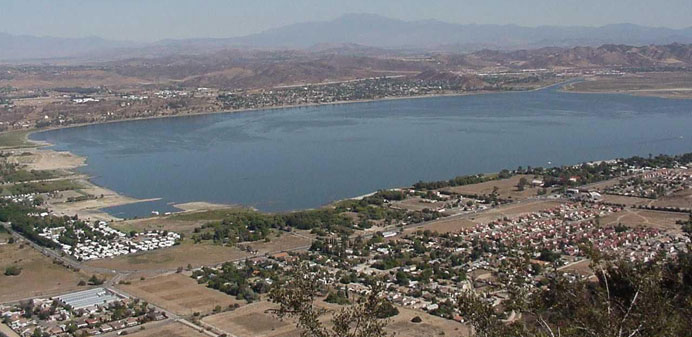 Overview of lake and surrounding area